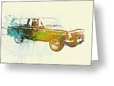 Jeep Wagoneer Greeting Card by Naxart Studio