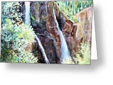 Jeeping at Bridal Falls  Greeting Card by Linda Shackelford