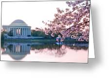 Jefferson at sunrise Greeting Card by Don Lovett