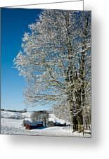 Jenne Farm Winter In Vermont Greeting Card by Edward Fielding