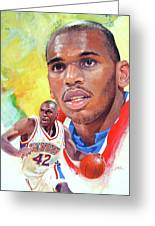 Jerry Stackhouse Greeting Card by Cliff Spohn