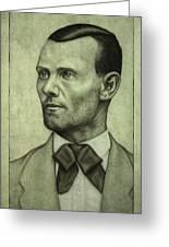 Jesse James Greeting Card by James W Johnson