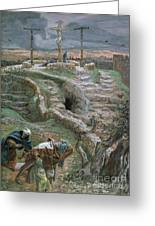 Jesus Alone On The Cross Greeting Card by Tissot