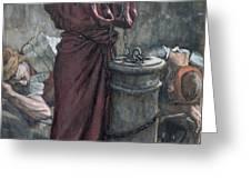 Jesus in Prison Greeting Card by Tissot