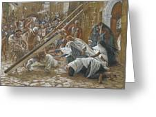 Jesus Meets His Mother Greeting Card by Tissot