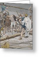 Jesus Stripped Of His Clothing Greeting Card by Tissot