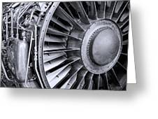 Jet Engine Greeting Card by Kevin Garrett