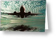 Jet Square Greeting Card by Sharon Lisa Clarke