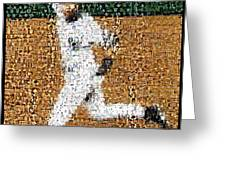 Jeter Walk-Off Mosaic Greeting Card by Paul Van Scott