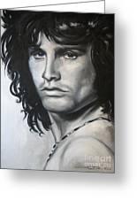 Jim Morrison Greeting Card by Eric Dee