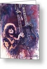 Jimmy Page  Greeting Card by Yuriy  Shevchuk