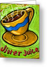Jitter Juice Greeting Card by David Kyte