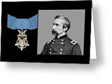 J.l. Chamberlain And The Medal Of Honor Greeting Card by War Is Hell Store