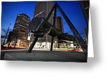 Joe Louis Fist Statue Jefferson and Woodward Ave. Detroit Michigan Greeting Card by Gordon Dean II