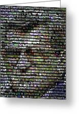 Joe Paterno Mosaic Greeting Card by Paul Van Scott