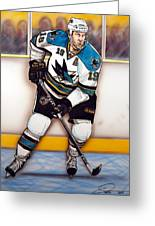Joe Thornton San Jose Sharks Greeting Card by Dave Olsen