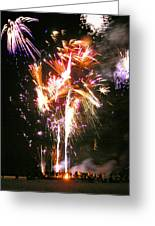 Joe's Fireworks Party 2 Greeting Card by Charles Harden