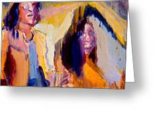 John And Yoko Greeting Card by Les Leffingwell
