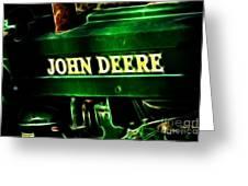 John Deere 2 Greeting Card by Cheryl Young