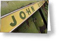 John Deere Greeting Card by Jeff Ball