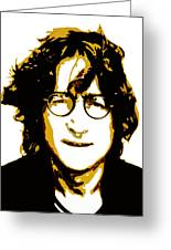 John Lennon In Shades Of Brown Greeting Card by Jera Sky