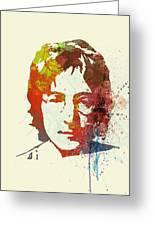 John Lennon Greeting Card by Naxart Studio