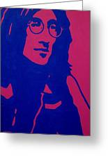 John Lennon Greeting Card by John  Nolan