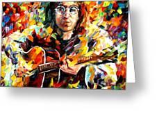 John Lennon Greeting Card by Leonid Afremov