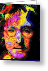 John Lennon Greeting Card by Stephen Anderson