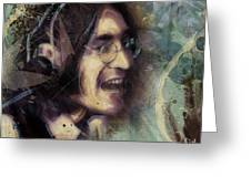 John Lennon Tribute- Don't Let Me Down Greeting Card by David Finley