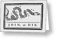 Join Or Die Greeting Card by War Is Hell Store