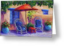 Josefina's Courtyard Greeting Card by Candy Mayer