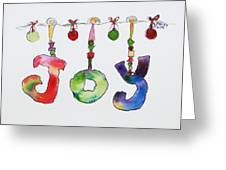 Joy Greeting Card by Becky Kim