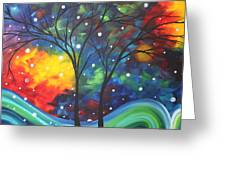 Joy By Madart Greeting Card by Megan Duncanson