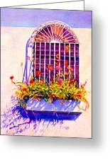 Joyful Window Greeting Card by Estela Robles