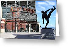 Juan Marichal At San Francisco Att Park . 7d7639 Greeting Card by Wingsdomain Art and Photography