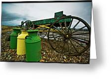 Jugs And Wagon Greeting Card by Dale Stillman