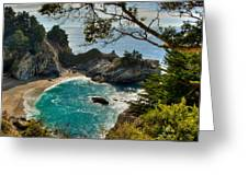 Julia Pfeiffer State Park Falls Greeting Card by Connie Cooper-Edwards
