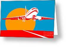 Jumbo Jet  Greeting Card by Aloysius Patrimonio