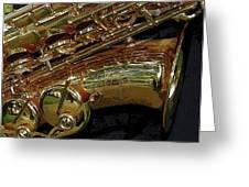 Jupiter Saxophone Greeting Card by Michelle Calkins
