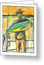Just Caught The One Greeting Card by Robert Wolverton Jr