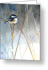 Just Thinking Greeting Card by Patricia Pushaw
