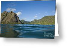 Kaaawa Valley From Ocean Greeting Card by Dana Edmunds - Printscapes