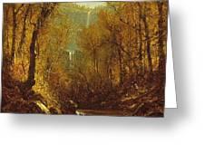 Kaaterskill Falls Greeting Card by Sanford Robinson Gifford