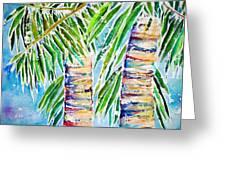 Kaimana Beach Greeting Card by Julie Kerns Schaper - Printscapes