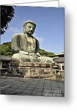 Kamakura Buddha Greeting Card by Andy Smy
