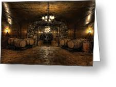 Karma Winery Cave Greeting Card by Brad Granger