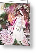 Kate The Princess Bride Greeting Card by Patricia Allingham Carlson