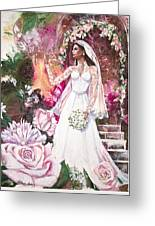 Kate The Princess Bride Greeting Card by Patricia Allingham Carlson