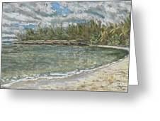 Kawela Bay Greeting Card by Patti Bruce - Printscapes